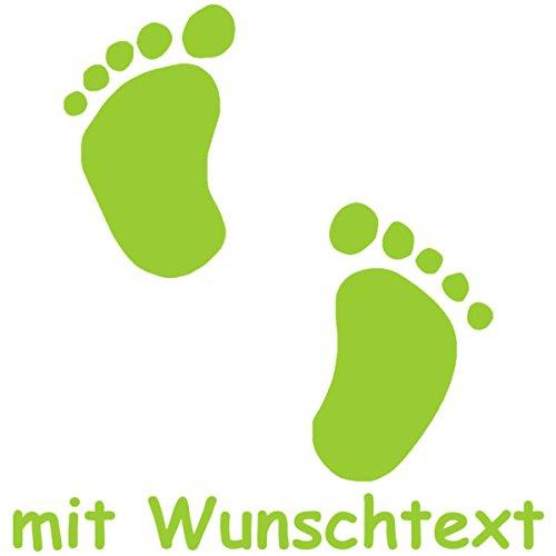 Babyaufkleber mit Name/Wunschtext - Motiv 77 (16 cm) - 20 Farben und 11 Schriftarten wählbar