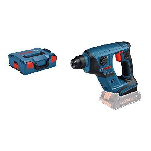 Bosch Professional 18V System Akku Bohrhammer GBH 18 V-LI (SDS Plus, Schlagenergie: 1 Joule, Bohr-Ø max.: Beton/Stahl/Holz 12/8/16 mm, ohne Akkus und Ladegerät, in L-Boxx)