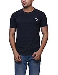 Navy Blue Cotton Round Neck T-Shirt For Men's/Boy's Half Sleeves Tees Casual Tshirt By Oneliner Clothing