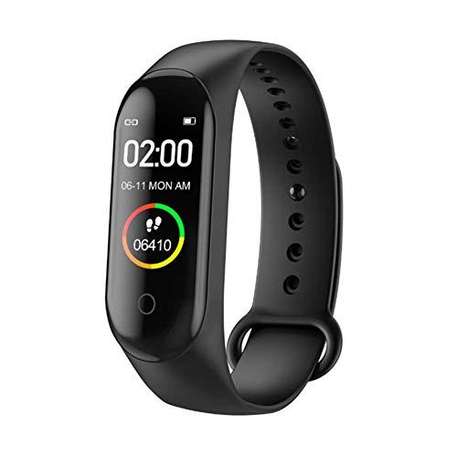 Imagen de reloj inteligente de ango, pulsera de actividad deportiva, frecuencia cardíaca, tensiómetro de la tensión arterial, pulsera de salud para mujeres y hombres, m4