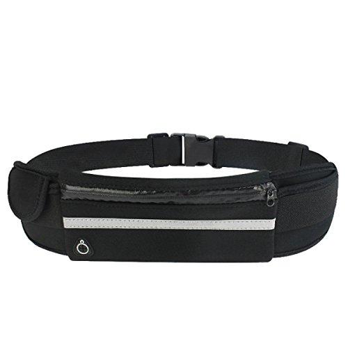 GXYLLDS Cintura Pack Deporte Correr Fitness Viajes Música Impermeable Seguridad Noche Reflexivo Bolso De Teléfono Móvil Hombres Y Mujeres Correa De Correr,A5-OneSize