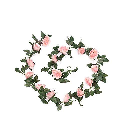 Tong Yue Künstliche Rose, Efeu, Girlande, Blumen, für Zuhause, Hotel, Büro, Hochzeit, Party,...