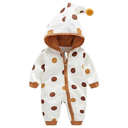 Bebone Baby Kleidung Jungen Mädchen Strampler Neugeborenen Overall (Braun 2, 3-6Monate/59cm)