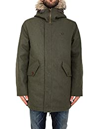 FRED PERRY manteau homme J9512 468 MELTON Fishtail PARKA