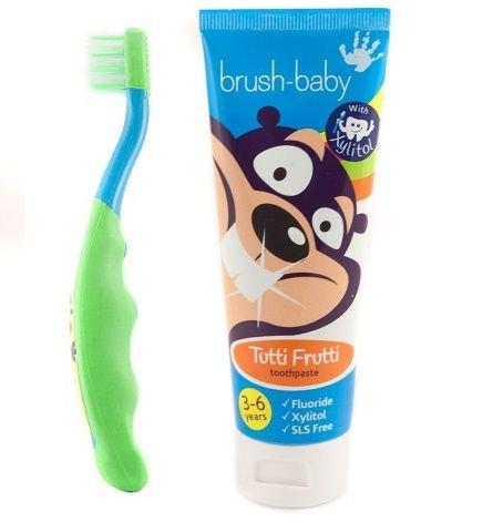 Brush-Baby Pinsel-Baby Kinder Zahnarzthelfer set - Grün