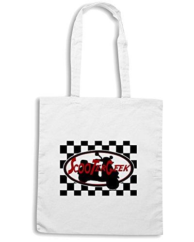 T-Shirtshock - Borsa Shopping OLDENG00230 scootergeek Bianco
