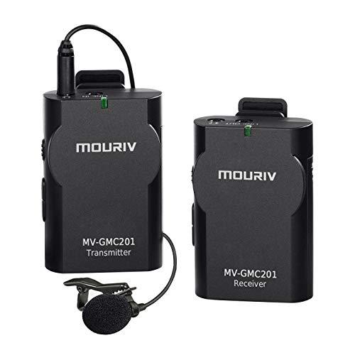 Mouriv MV-GMC201 Lavalier Senza Fili sistema Microfono per Canon Nikon Sony Panasonic Dslr Videocamera iphone smartphone android Tablet Gopro 3 3+ 4