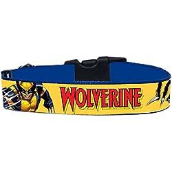 Lobezno Wolverine X-Men Collar Perro Hecho a Mano Talla XL con Correa Multiposicion a juego Dog Collar HandMade