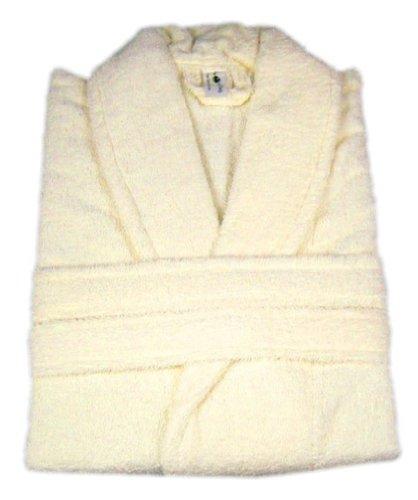 Bademantel, aus 100% Baumwolle, Frottee, mit passendem Gürtel Free Size cremefarben cremefarben
