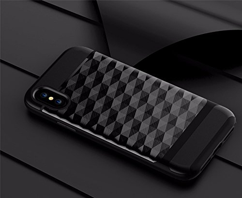 Cover iphone x design speciale unico custodia iphone x iphone x cover iphone x case iphone x hülle iphone x custodia cover iphone 10 custodia iphone 10 anti-impatto anti-colpo anti-graffi (Nero) Nero