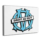 DSDJHF Olympique De Marseille Impression sur Toile Art Mural D'estampes De Toile Moderne Mur Art Toile Impressions sur Toile pour Le Salon Chambre Peinture Décoration...