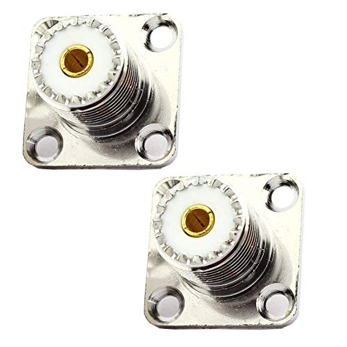 OxoxO Replace UHF Female SO239 Jack Panel Chassis Mount Flange Solder Cup 4 holes Connector Top Quality -