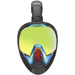 ZGQA-AOQ Masque Respiratoire De Plongée en Apnée De Protection Solaire Protection Contre Les Rayons UV (Size : L)