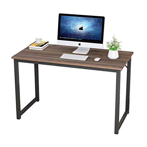 soges Computertisch Schreibtisch PC Tisch Arbeitstisch aus Holzwerkstoffen für Zuhause und Büro,120 * 60 * 75 cm,Schwarze Walnuss