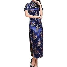 XueXian(TM) Mujer de Elegente Largo Qipao de Estilo Oriental de China-dragón