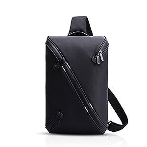 415pkGV34zL. SS300  - FANDARE Mode Sling Bag Crossbody Bag Bolsas Gimnasio Mochila Hiking Bag Ciclismo Senderismo Bolso Bandolera Hombre Hombro Impermeable Poliéster Negro