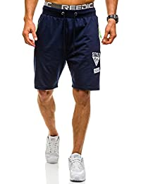 BOLF Short Bermudas shorts de sport jogging fermeture éclair aptitude 7G7 motif
