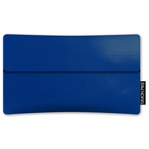 SIMON PIKE Apple iPhone 7 / 6 / 6S Case Hülle aus LKW Plane 'New York' in grau, elegante handgefertigte Smartphone Design Schutzhülle aus stylischer Industrie Gewebeplane blau LKW_Plane (Muster 1)