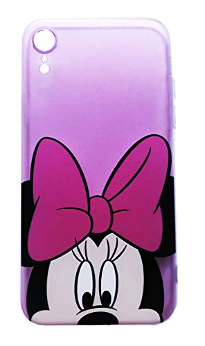 Pinke Disney Case für Iphone XR, Zeichentrickfiguren, Weiche TPU Protective Back Cover, Minnie Mouse Character -