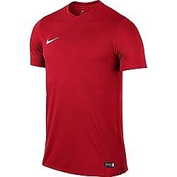 Nike Park Vi, Camiseta de Manga Corta para Hombre, Rojo (University Red/White), XL