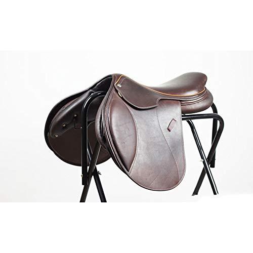 KDKDA Western Pleasure anzeigen Pferdesattel Leichtgewichtler Synthetic TACK Sattlerei Reiten Sattel Rindleder Integrierte Sattel Kunststoff-Sattel Tourist Sattel sitzen volles echtes Leder