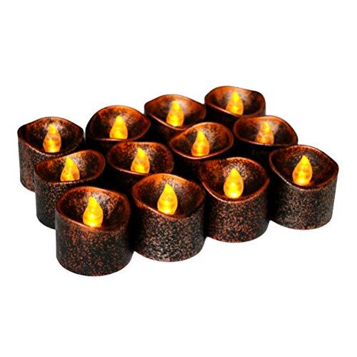 z Halloween led kerzenlichter elektrische nachtlicht Party Dekoration für bar hausgarten (gelb blinkendes licht) ()