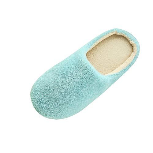 MYMYG Warme Pantoffeln Frauen Zuhause Plüsch weiche Hausschuhe drinnen Anti-Rutsch Winterboden Schlafzimmer Schuhe Pantoffeln Weiche Leicht Wärme Rutschfeste Slippers