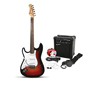 rockburn st style electric left handed guitar pack sunburst musical instruments. Black Bedroom Furniture Sets. Home Design Ideas