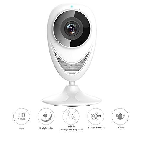 OutfitAlbum - Wlan Kamera Außen Wireless Kamera Alarm,Bewegungserkennung,Bulit In Mikrofon Lautsprecher,720P HD,2,5mm Objektiv