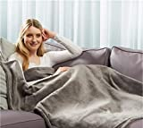 FRX Heizdecke Wärmedecke Heizmatte Wärmeunterbett Wärmedecke beheizte Decke Kuschelheizdecke (grau)