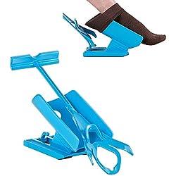 Romote Easy On/Easy Off - Kit coulissant Helper Sock pour enfiler et enlever les chaussettes sans se pencher