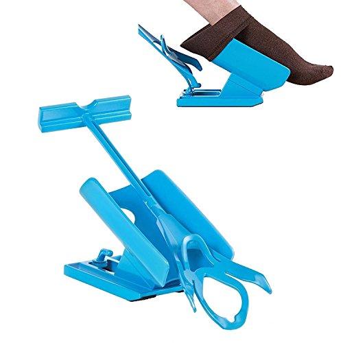 Romote Easy On/Easy Off - Socken-Helfer-Slider-Kit zum Anziehen und Ausziehen der Socken ohne zu verbiegen -
