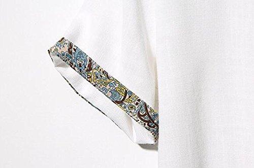 Männer T-Shirt Sommer Loses Atmungsaktive Baumwolle Kurzarm-Vintage-Leder-Label Black