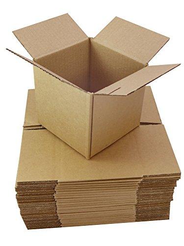 25Scatole Confezione in cartone marrone piccole dimensioni 20,3x 20,3x 20,3cm/200x 200x 200mm 8Pollice Quadrato Cubes imballaggio spedizioni postali postali cartoni - 8 Cube
