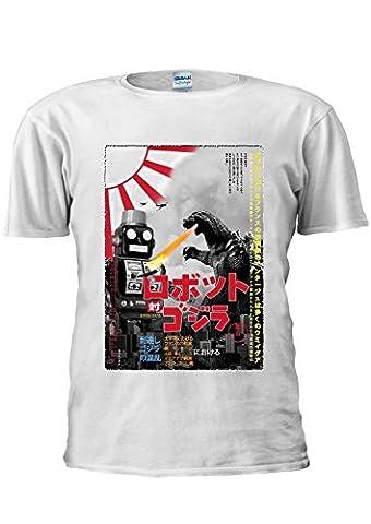 Tokyo Tin Robot Godzilla Top Fashion Japan Japanese Unisex T Shirt Top Men Women Ladies-XXXXXL