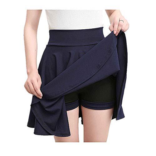 Größe 4XL Shorts Röcke Womens 2019 Sommer A Linie Sun School High Waist Faltenrock Female Korean Elegant Skirt Belly Dance Satin