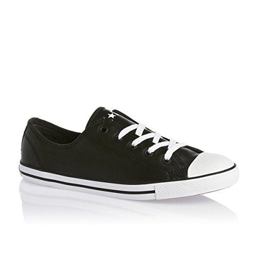 Converse - Dainty Leath Ox, Sneaker basse Donna Black
