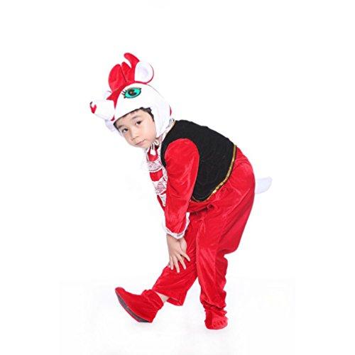Honeystore Kind's Unisex Sika-Hirsch Cosplay Kostüm Pyjamas Siamesische Kleidung Lustig Jumpsuit (Siamesische Ideen Kostüm Zwillinge)