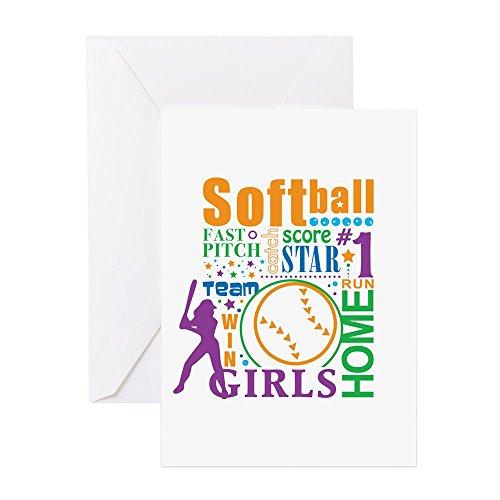 CafePress–Bourne Softball–Grußkarte, Note Karte, Geburtstagskarte, innen blanko, matt