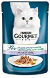 Gourmet Perle Katzenfutter Erlesene Streifen mit Kalb und Gemüse, 24er Pack (24 x 85 g) Beutel