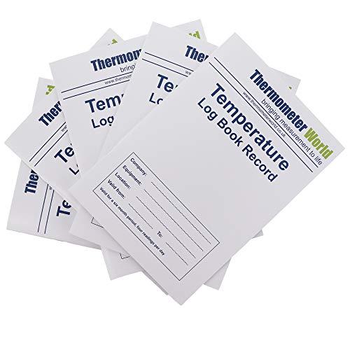 5Stück x Temperatur Log Bücher 6Monate Records-Monitor Kühlschrank Gefrierschrank Kochen Backen Temperatur Lebensmittelsicherheit und Hygiene