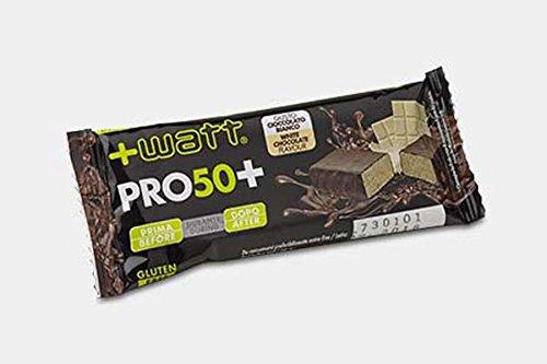 24x +watt pro 50+, barrette proteiche da 50g (gusto cookie nocciola), senza glutine, gusto eccezionale - nt integratori garanzia di qualita'