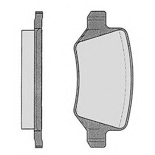 PE08020RB-5396 Kit pastiglie freno Posteriore Permafus
