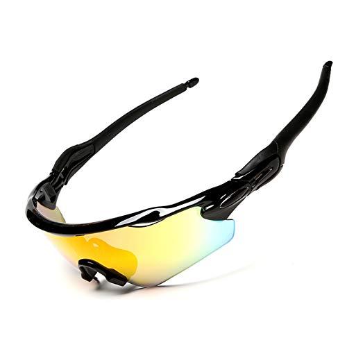 KnSam Winddicht Uv-Beständig Taktische Schutzbrille Kratzfester Scheibe Panoramablickfeld Schwarz Schutzbrille