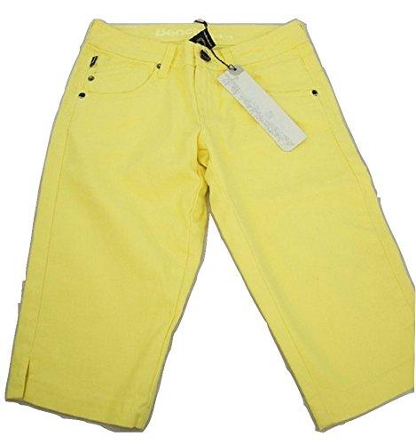 "Panca da donna Slim, motivo ""NICKY"" Fashion Jeans Giallo Brillante 56"