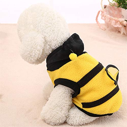 Kissherely Hund Katze Hummel Halloween Kleidung Puppy Bumble Bee Kleidung Pet Bekleidung Dress Up Coat Hoodie (Größe 8)