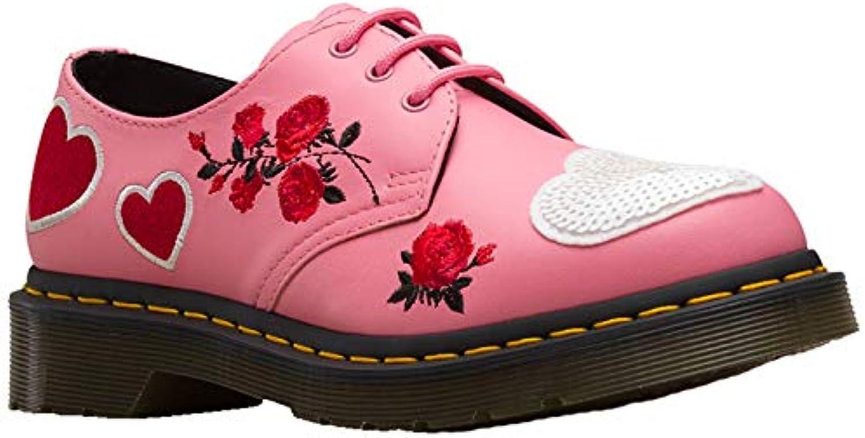 Dr. Martens Ladies 1461 Hearts Geranium rosa bianca Softy T T T Leather 3 Eyelet scarpe-UK 7 (EU 41) | Design lussureggiante  0afed6