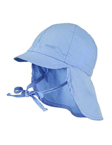 maximo Jungen Mütze Nackenschutz mit Schild, UPF 15, Gr. 47, Blau (babyblau 61)