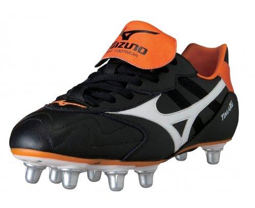 Timaru SG - Chaussures de Rugby Noir/Blanc/Orange Black