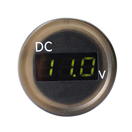 Vosarea LED-Motorrad-Voltmeter, 2,5 – 30 V, IP67, wasserdicht, wasserdicht, für Auto, Signal, Grün (Schwarz)